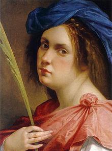 Autoportrait en martyre, Artemisia Gentileschi, 1615, huile sur toile, Collection particulière