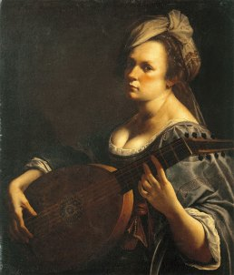 Autoportrait au Luth, Artemisia Gentileschi, vers 1617-1618, huile sur toile, Curtis Galleries, Minneapolis