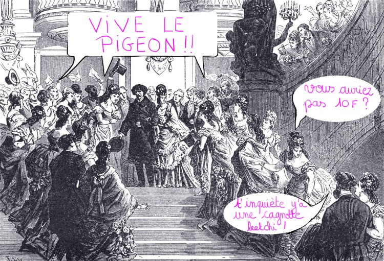 2-Inauguration de l'Opéra. Ovation à M. Garnier à sa sortie de l'Opéra. Dessin de M. Lix (le Monde illustré, 16 janvier 1875)  copie copie.jpg