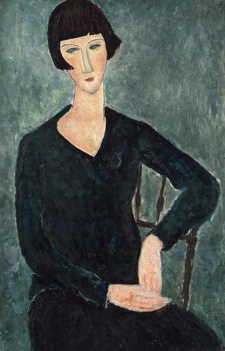 Amedeo Modigliani, Femme assise à la robe bleue, 1918-1919.jpg
