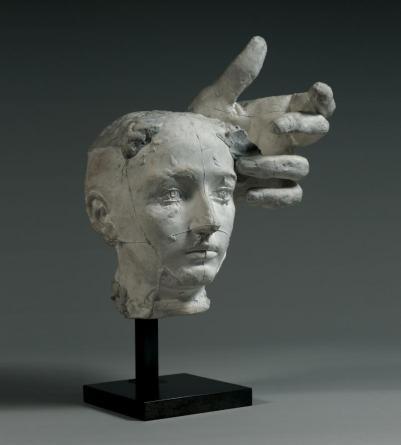 Masque de Camille Claudel et main de Pierre de Wiissant, plâtre, vers 1895, Rodin