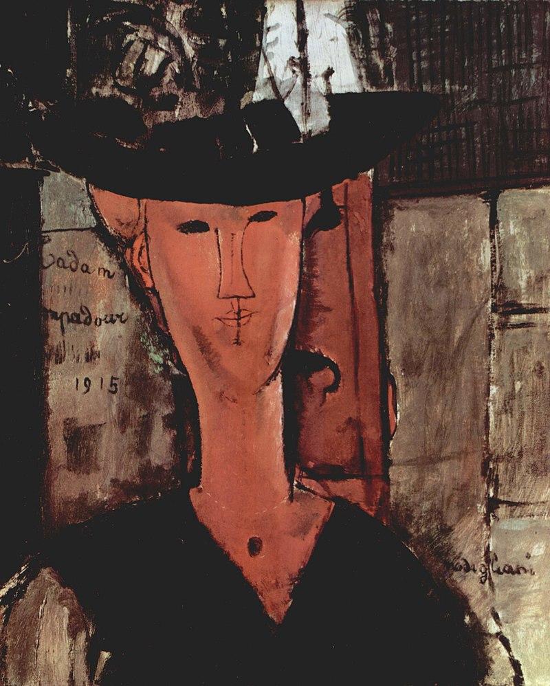 Dame au chapeau, Madame Pompadour, 1915