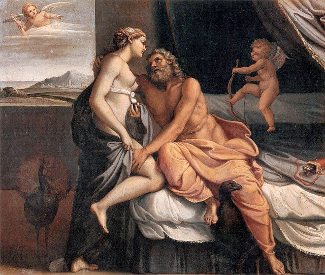 Jupiter et Junon ou Zeus et Hera, Annibale Carracci, 1597,