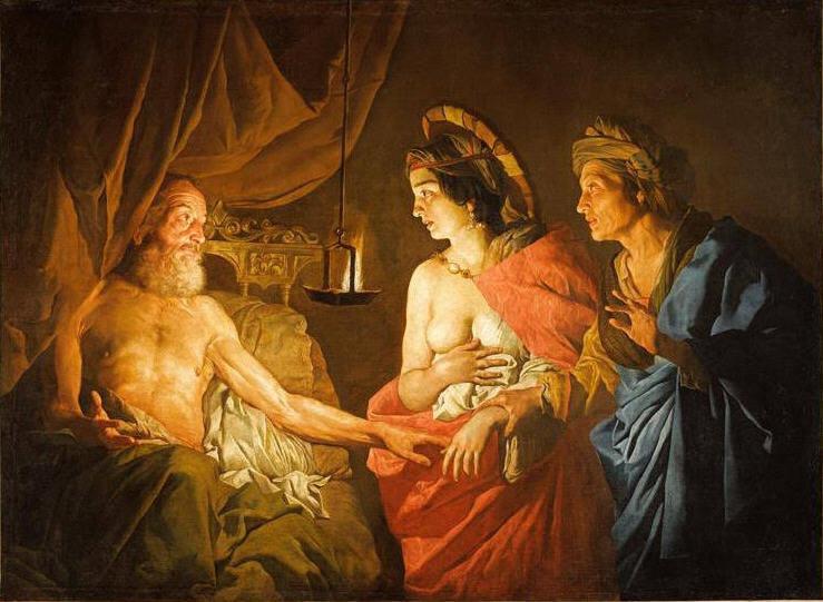 Sarah présentant Agar à Abraham couché'' Stomer Matthias