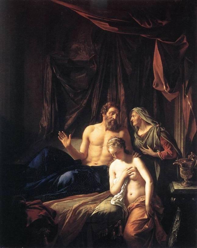 Sarah présente Agar à Abraham - Adriaen van der Werff