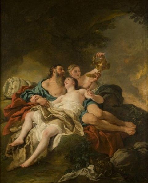 Jean-François de Troy, Loth et ses filles 1727, Huile sur toile, 80 x 64 cm, Musée des Beaux-Arts, Orléans