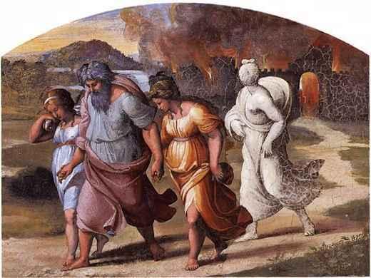 La fuite de Loth par Raphael © Palais du Vatican