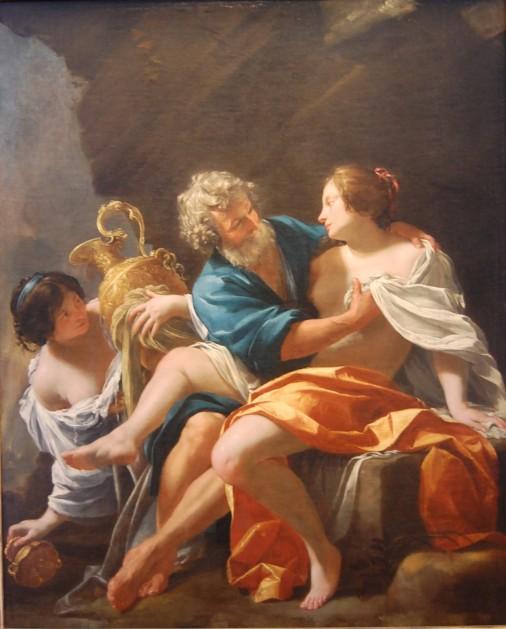 Loth et ses filles fut peint par Simon Vouet en 1633 Musée des Beaux Arts de Strasbourg.jpg