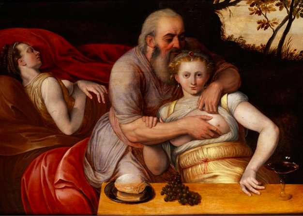 Loth et ses filles, suiveur de Frans Floris (1519-1570), huile sur bois, collection privée.jpg