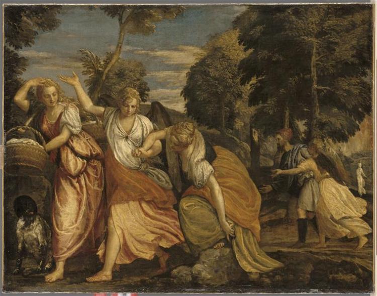 Véronèse (atelier de) La Famille de Loth fuyant Sodome