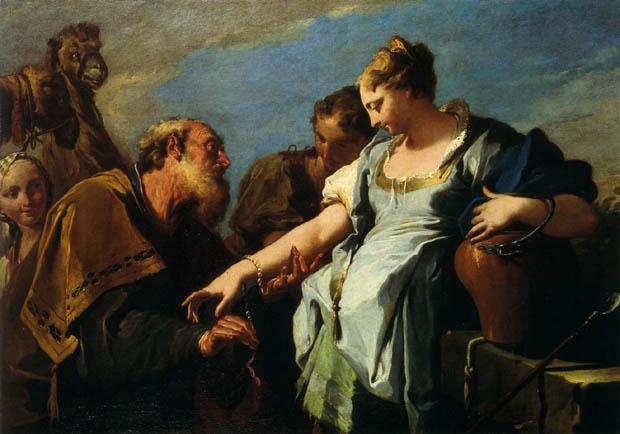 Pittoni, Giambattista - Eliezer and Rebecca, XVIIIe siècle, Musée des Beaux-Arts de Bordeaux.jpg