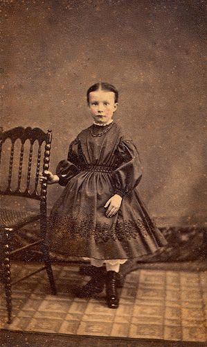 Pretty Little Girl, Carte de Visite with Tax Stamp on Reverse, 1864-66.jpg