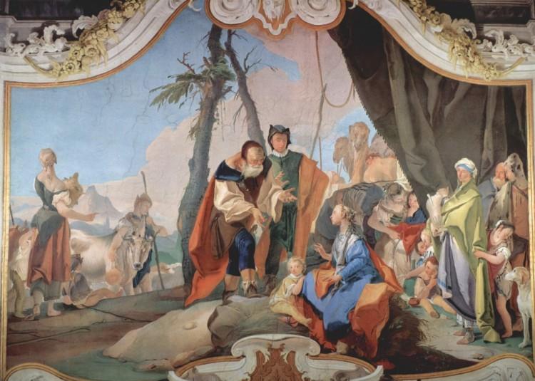 Giovanni_Battista_Tiepolo 1696-1770) ; 1726-1729 Dim. 400x500 cm Palazzo Patriarcale, Udine Italie