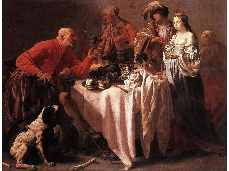 Hendrick ter Brugghen  1588 1629  calviniste  Les reproches de Jacob à Laban 1628, Cologne (Wallraf-Richartz Museum).jpg