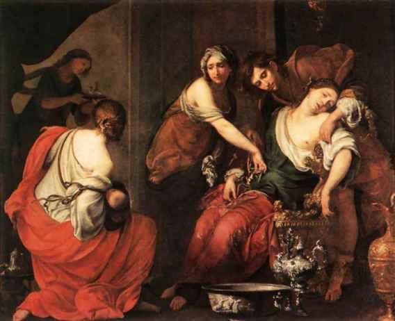 Mort de Rachel à la naissance de Benjamin,Fransceco Furini (1603-46),