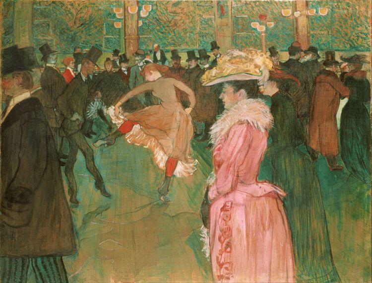 La Danse au Moulin-Rouge, 1890, Huile sur toile