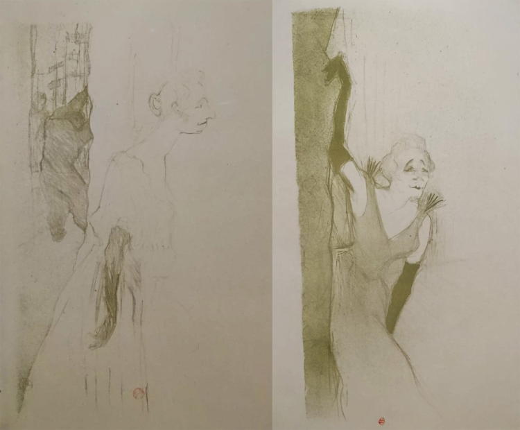 YvetteGuilbert lautrec dessin