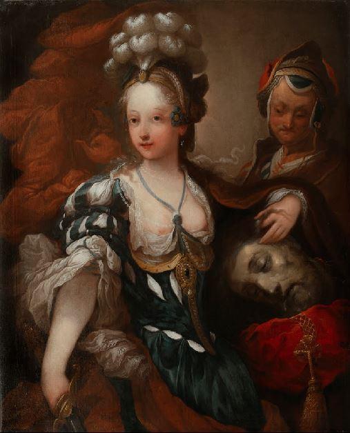 Alexis-Grimou-cercle-de-Judith-et-la-tête-dHolopherne-fin-XVIIe-début-XVIIIe-siècle-88-x-72-cm-Varsovie-The-Wilanòw-Palace-Museum.