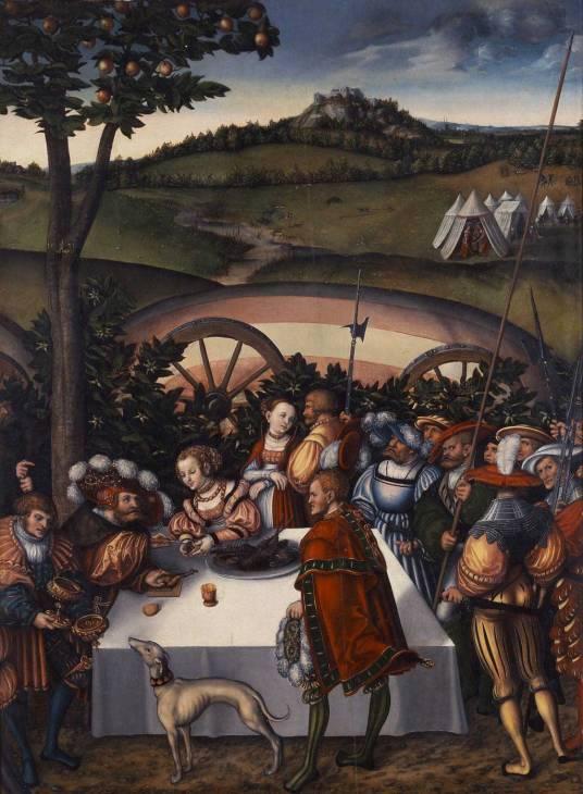 Lucas CRANACH - Judith dinant avec Holopherne
