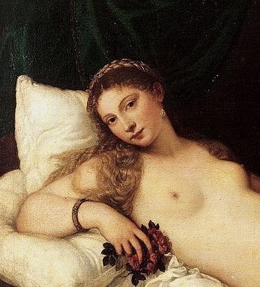 Vénus urbin titien visage